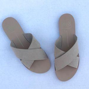 Anthro Dolce Vita Suede Slide Sandals Size 7